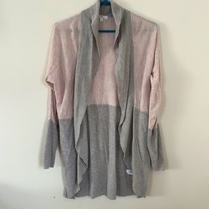 CAMBER&GRACE PALE PINK &GREY CARDIGAN WOMEN SIZE S